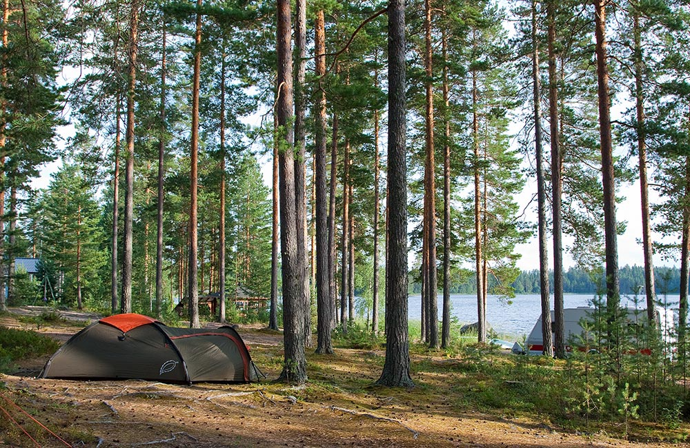 Tommolansalmi campsite tents
