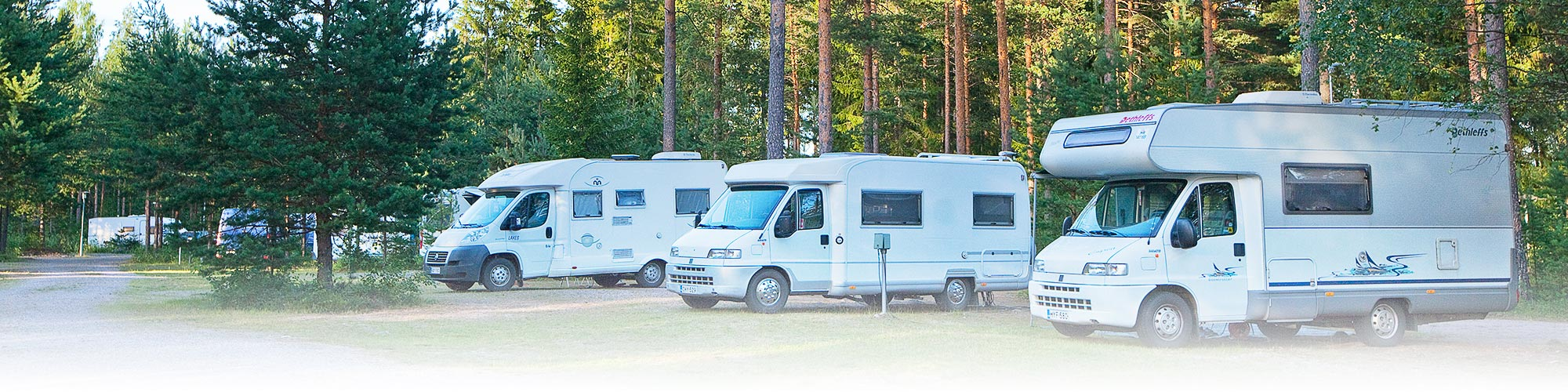 Tommolansalmi campsite caravans